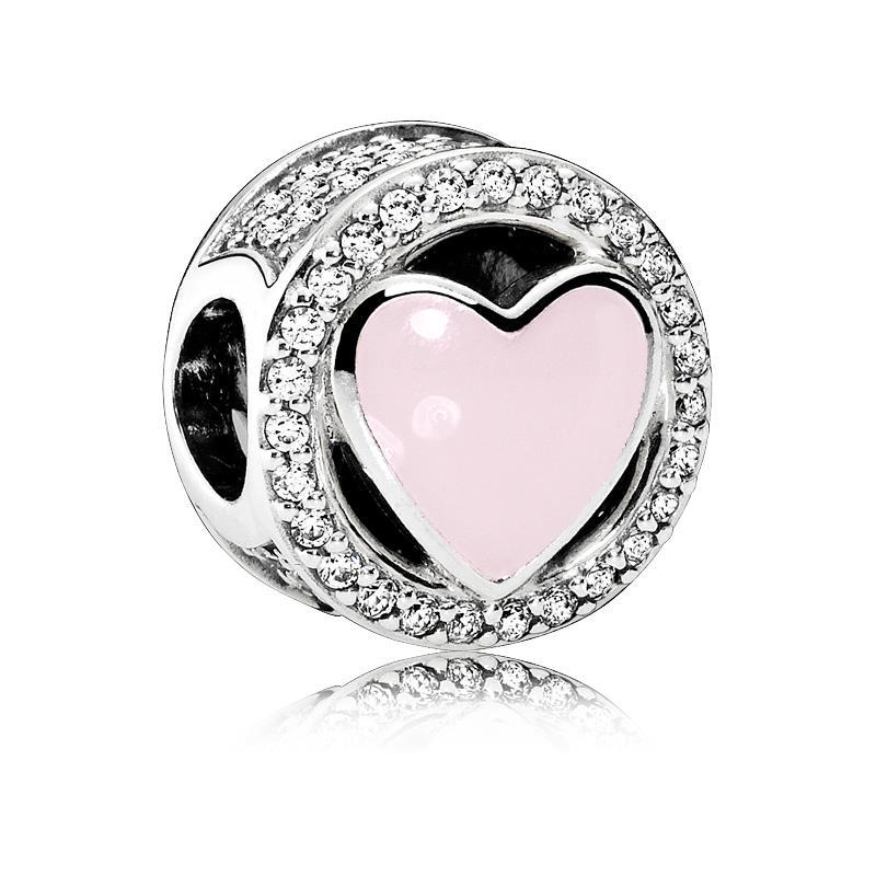 pandora cuore rosa